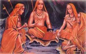 Shankara and his four disciples